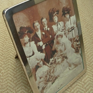 Antique Silver Photograph Frame 1924