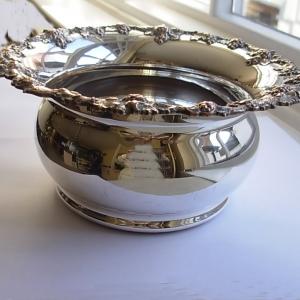 Antique Silver Plate Champagne Coaster