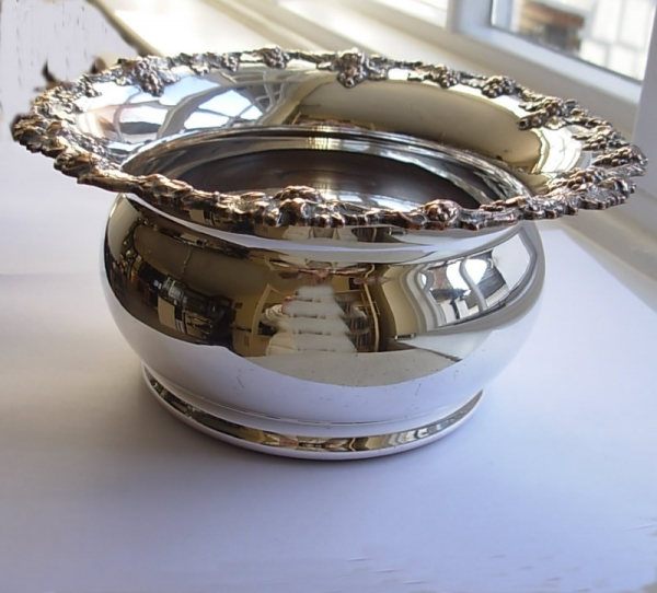 Antique Silver Plate Champagne Coaster