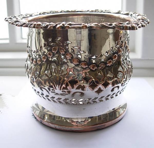 Antique Silver Plated Champagne Coaster