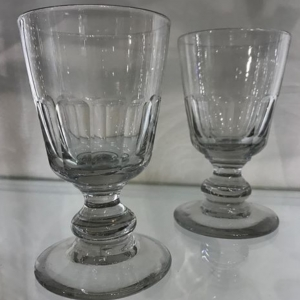 Pair Antique Glass Rummers