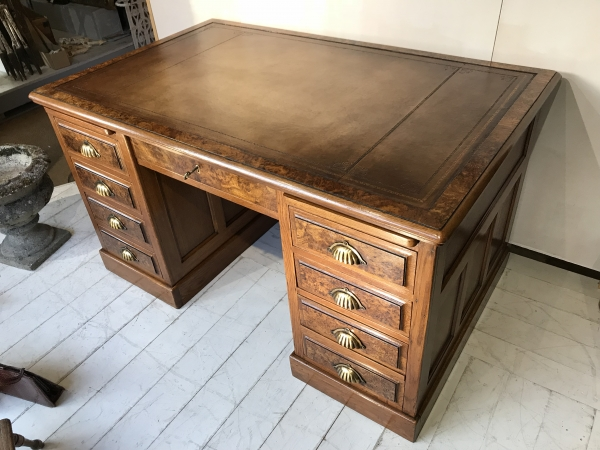 Antique Pedestal Desks and Desk Chairs
