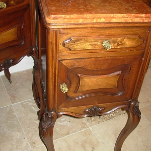 Pair 19thc French Bedside Cabinets