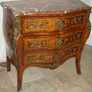 Early 20thc French Serpentine Front Commode