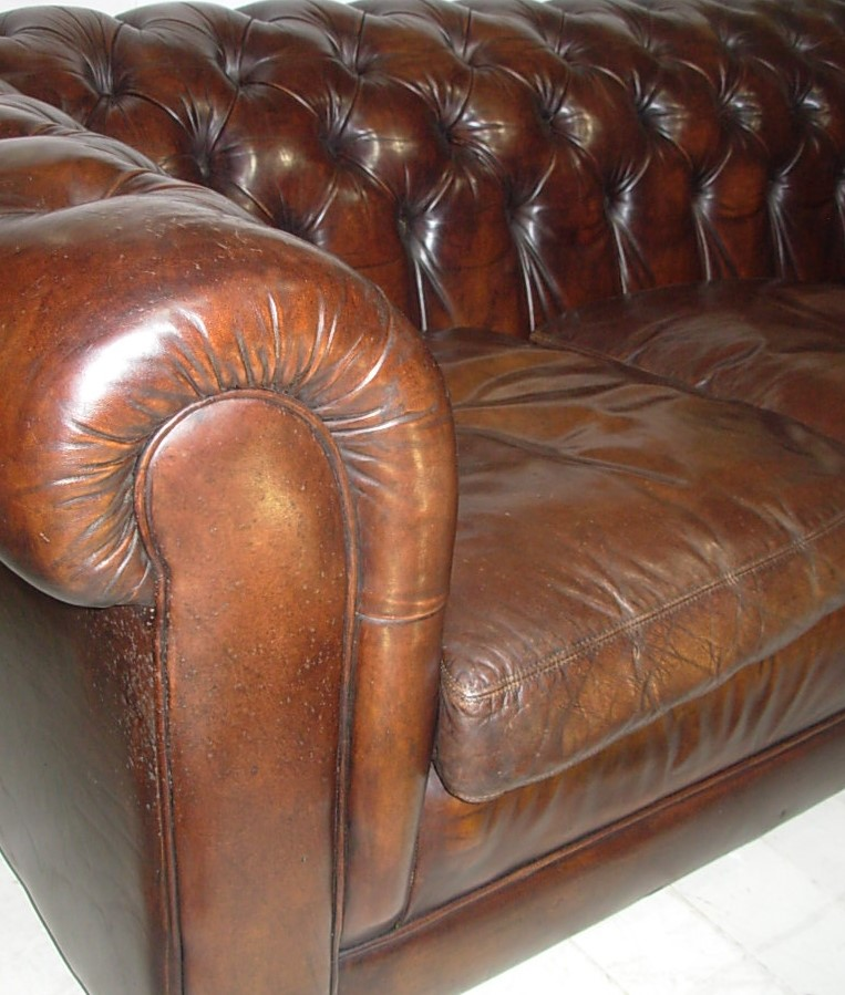 Vintage Leather Chesterfield Sofa Tudor Rose Antiques
