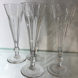 Four French Champagne Flutes
