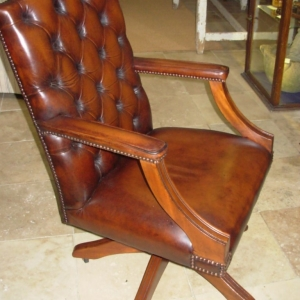 Revolving Leather Desk Chair