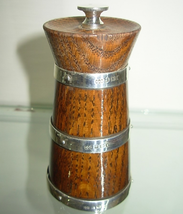 Antique Wooden Peppermill