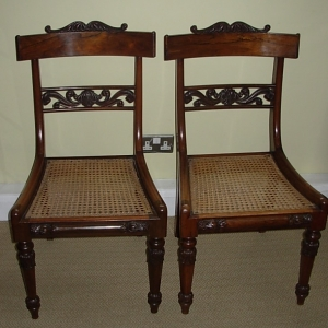 Pair Antique Rosewood Chairs
