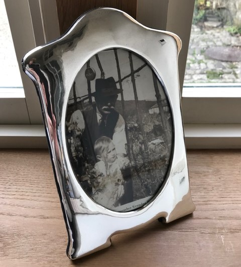 Antique Silver Photoframe