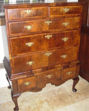 18thc English Chest on Stand