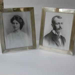 Pair Antique Silver Photograph Frames