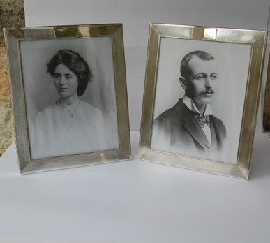 Pair Antique Silver Photograph Frames