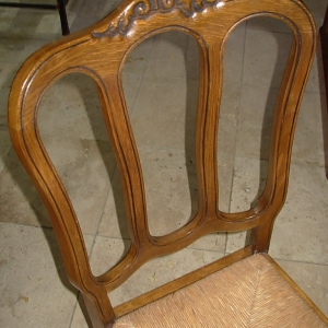 set 6 French dining chairs