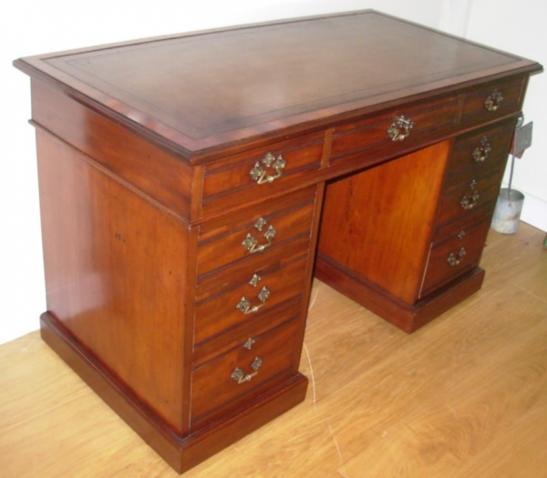 Edwardian Pedestal Desk