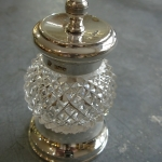 Edwardian Glass and Silver Peppermill