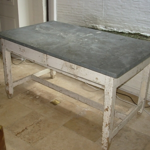 Vintage Painted Dairy Table