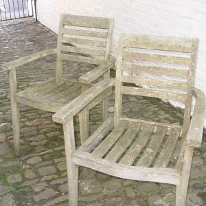 Pair Garden Seats