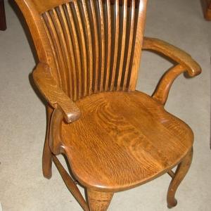 Edwardian Oak Desk Chair