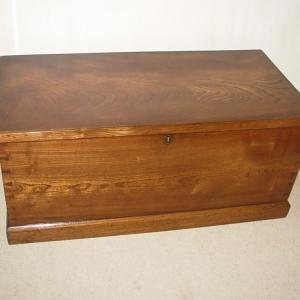 Antique Elm Coffer