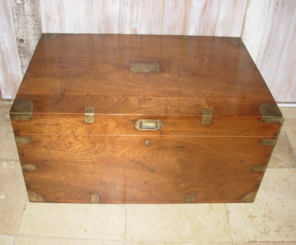Antique Hardwood Trunk