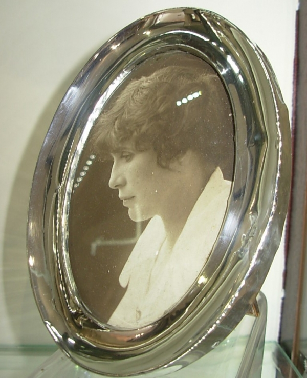 Oval Antique Silver Frame