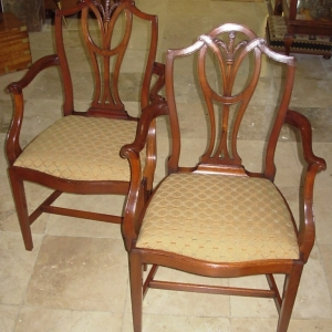 Pair Edwardian Elbow Chairs