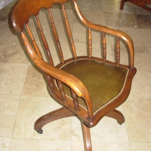 19thc Revolving Desk Chair