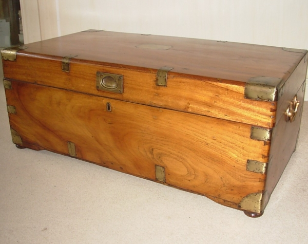 Brass Bound Camphor Trunk